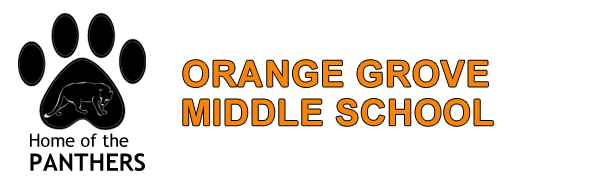 Orange Grove Middle School Panther Paw Logo